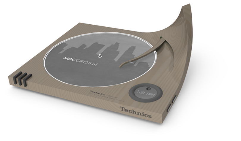 A postmodern style Technics DJ turntable design